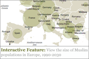europa muslim map