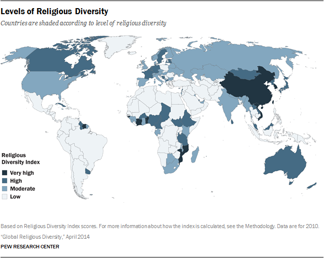 Religious Diversity Around The World Pew Research Center