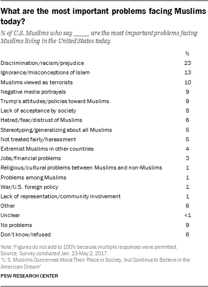 What are the most important problems facing Muslims today?