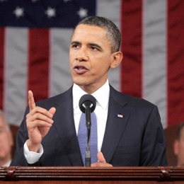 Obama delivering the State of the Union Address in Jan. 2011: promo image