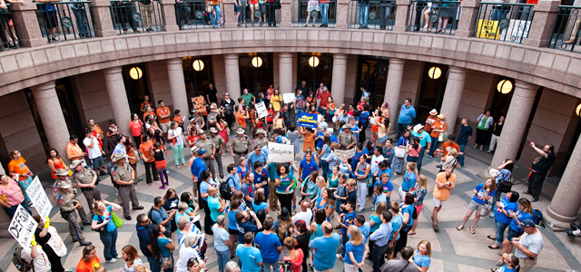 Texas Capitol Abortion Rights Protest/Rally, July 1, 2013.  Credit: Flickr Vision