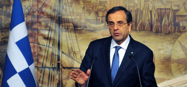 Greece's Prime Minister Antonis Samaras. Credit: OZAN KOSE/AFP/Getty Images