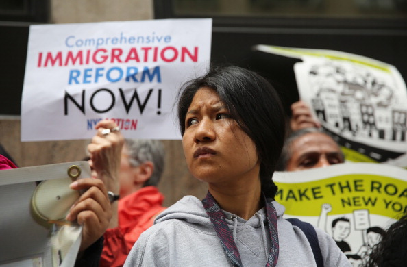 Immigration Activists Demonstrate In Front Of Detention Center In New York