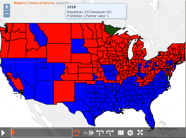 Chart Of The Week A Century Of US Political History Pew - Us political party map