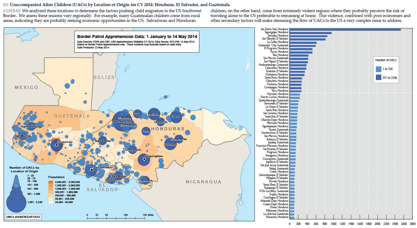 DHS Violence Poverty Drive Children To Flee Central America To - San pedro sula map
