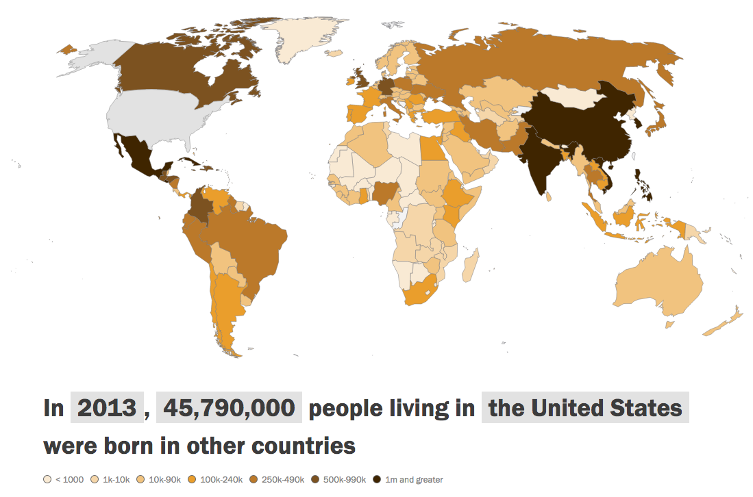 Facts About World Migration Pew Research Center - Interactive map of migration in the us