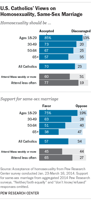 Catholic church position on gay members