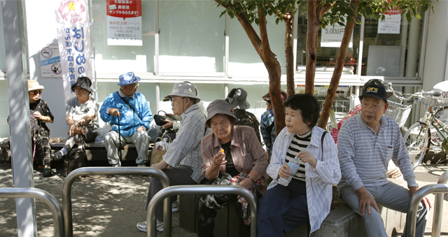 Japan's growing number of older people will put more and more pressure on the working-age population for years to come. (AP Photo/Shizuo Kambayashi)