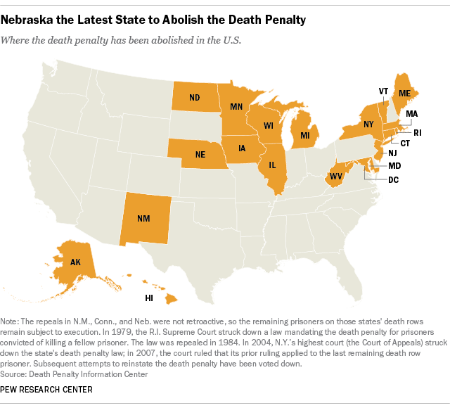 Where the Death Penalty Has Been Abolished in the U.S.