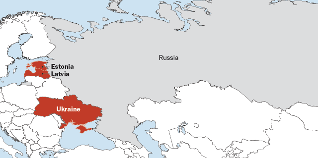 Ethnic Russians more likely than others in their countries to