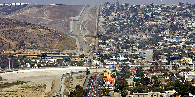The border city of Tijuana, in the Mexican state of Baja California, as seen from the U.S. (Luis Acosta/AFP/Getty Images)