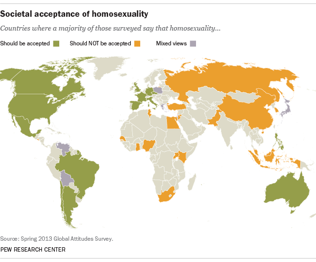 A global snapshot of samesex marriage Pew Research Center
