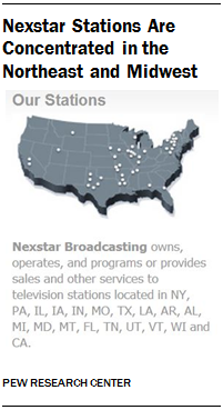 Nexstar Stations Are Concentrated in the Northeast and Midwest