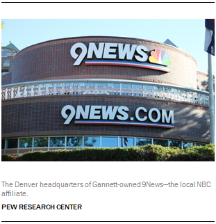 The Denver headquarters of Gannett-owned 9News—the local NBC affiliate.