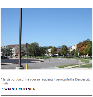 A large portion of metro-area residents live outside the Denver city limits.