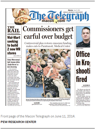 Front page of the Macon Telegraph on June 11, 2014.