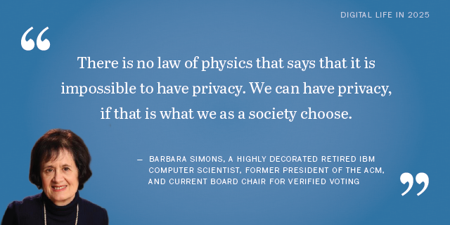 Barbara Simons on the future of privacy