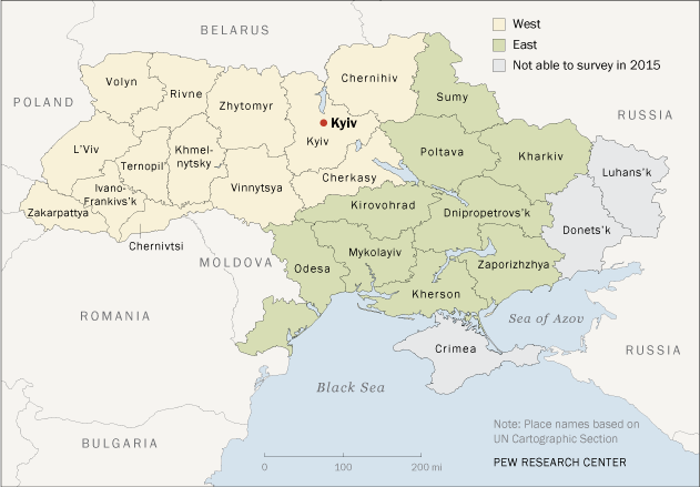 Surveying Ukraine in 2015 Map
