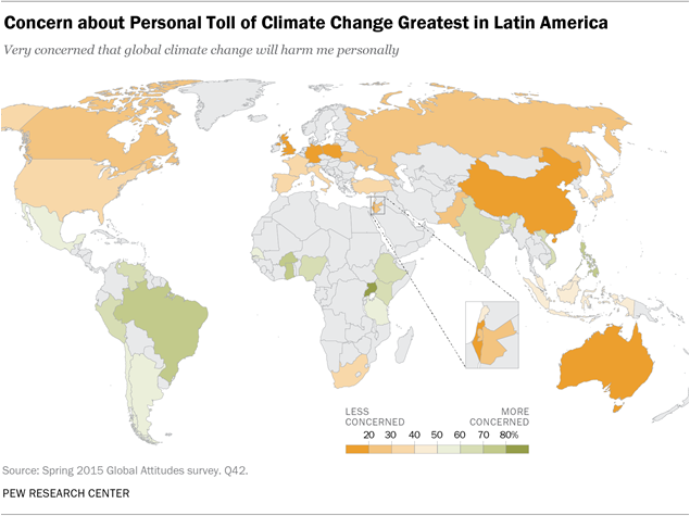 Concern about Personal Toll of Climate Change Greatest in Latin America