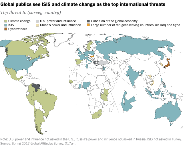 Isis and climate change seen as top threats globally pew research isis and climate change seen as top threats globally pew research center gumiabroncs Choice Image