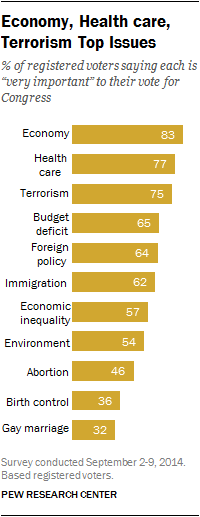 Economy, Health care, Terrorism Top Issues