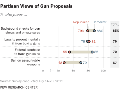 Partisan Views of Gun Proposals
