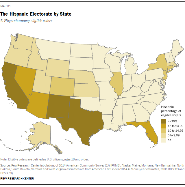 The Hispanic Electorate by State
