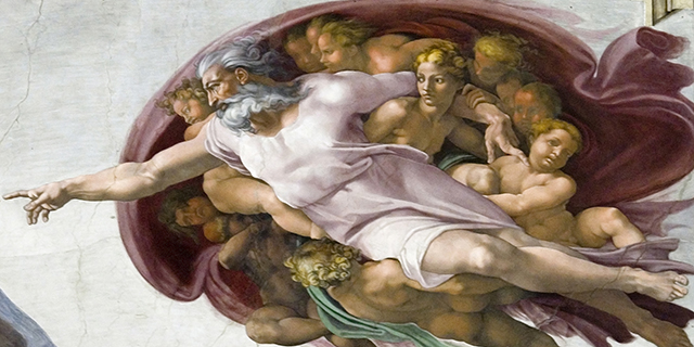 "Michelangelo's ""The Creation of Adam"" at the Sistine Chapel in Vatican City. (Lucas Schifres/Getty Images)"