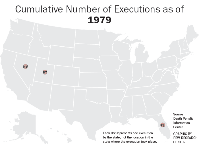 Number of Executions in Each State Since 1977 | Pew Research ...