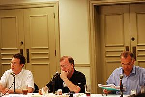 Andrew Newberg, Michael Cromartie and David Brooks
