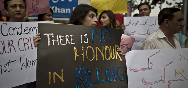 About four-in-Ten Pakistanis say ending a woman's life -- so-called honor killing -- is justified if she has shamed her family.