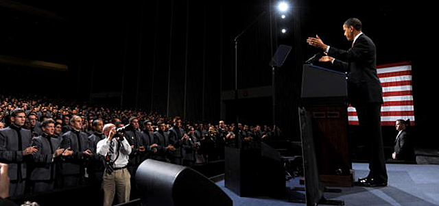 President Obama delivers a speech at West Point. Credit: Roger L. Wollenberg-Pool/Getty Images