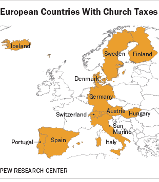 European Countries With Church Taxes
