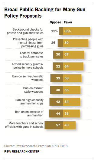 Broad Public Backing for Many Gun Policy Proposals