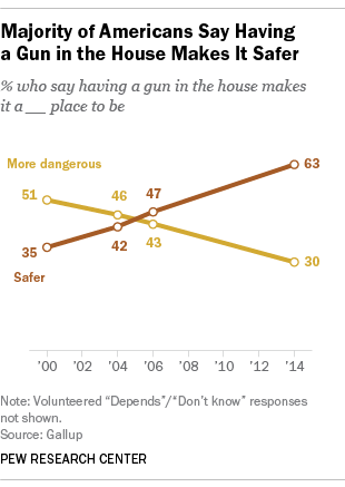 Majority of Americans Say Having a Gun in the House Makes It Safer