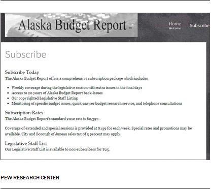 Alaska Budget Report
