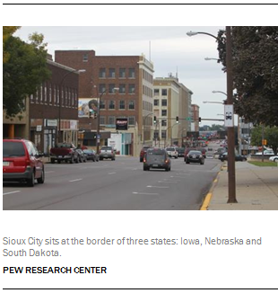 Sioux City sits at the border of three states: Iowa, Nebraska and South Dakota.