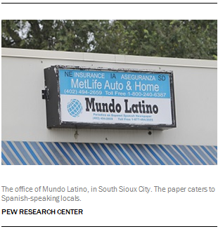 The office of Mundo Latino, in South Sioux City. The paper caters to Spanish-speaking locals.
