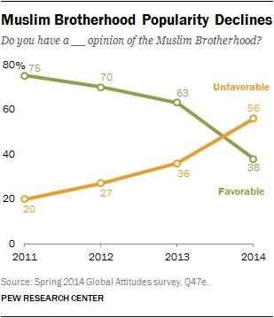 Muslim Brotherhood Popularity Declines