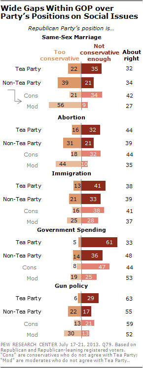 Wide Gaps Within GOP over Party's Positions on Social Issues