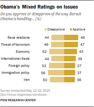Obama's Mixed Ratings on Issues