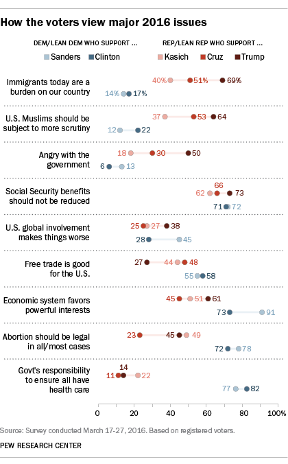 How the voters view major 2016 issues